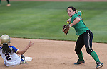 Rancho's Gianna Carosone turns a double play against Reed during NIAA DI softball action at the University of Nevada, in Reno, Nev., on Thursday, May 19, 2016. Cathleen Allison/Las Vegas Review-Journal