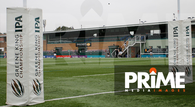 A general view of Ealing Trailfinders RFC's main stand during the Greene King IPA Championship match between Ealing Trailfinders and Bedford Blues at Castle Bar , West Ealing , England  on 29 October 2016. Photo by Carlton Myrie / PRiME Media