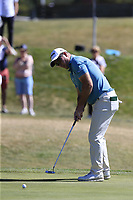 Ryan Fox (NZL) putts on the 8th green during Saturday's Round 3 of the 2018 Omega European Masters, held at the Golf Club Crans-Sur-Sierre, Crans Montana, Switzerland. 8th September 2018.<br /> Picture: Eoin Clarke | Golffile<br /> <br /> <br /> All photos usage must carry mandatory copyright credit (&copy; Golffile | Eoin Clarke)