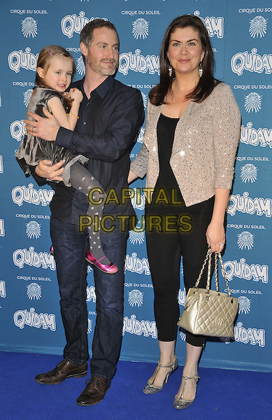 LONDON, ENGLAND - JANUARY 07: Willow Rose McGuinness, Sean McGuinness &amp; Amanda Lamb attend the &quot;Cirque du Soleil: Quidam&quot; VIP press night, Royal Albert Hall, Kensington Gore, on Tuesday January 07, 2014 in London, England, UK.<br /> CAP/CAN<br /> &copy;Can Nguyen/Capital Pictures