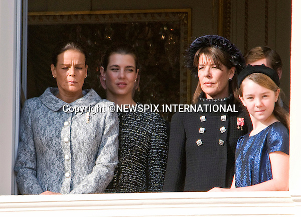 "PRINCESS CAROLINE WITH CHILDREN PRINCESSES CHARLOTTE AND ALEXANDRA, PRINCES ANDREA AND PIERRE AND SISTER PRINCESS STEPHANIE.watched the National Day performances from the balcony of the Palais, Monte Carlo, Monaco_19/11/2011.Mandatory Credit Photos: ©Francis Dias/NEWSPIX INTERNATIONAL..**ALL FEES PAYABLE TO: ""NEWSPIX INTERNATIONAL""**..PHOTO CREDIT MANDATORY!!: NEWSPIX INTERNATIONAL(Failure to credit will incur a surcharge of 100% of reproduction fees)..IMMEDIATE CONFIRMATION OF USAGE REQUIRED:.Newspix International, 31 Chinnery Hill, Bishop's Stortford, ENGLAND CM23 3PS.Tel:+441279 324672  ; Fax: +441279656877.Mobile:  0777568 1153.e-mail: info@newspixinternational.co.uk"