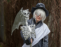 Undertaker from Black Butler Cosplay, Sakura Con 2018, Seattle, Washington, USA.