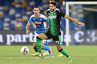 Manuel Locatelli US Sassuolo and Fabian Ruiz of SSC Napoli<br /> during the Serie A football match between SSC  Napoli and US Sassuolo at stadio San Paolo in Naples ( Italy ), July 25th, 2020. Play resumes behind closed doors following the outbreak of the coronavirus disease. <br /> Photo Cesare Purini / Insidefoto