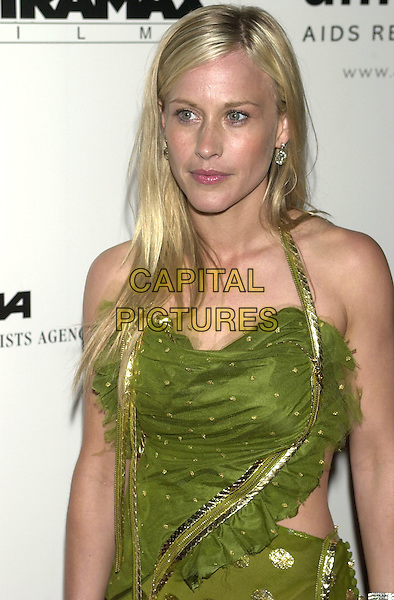 "PATRICIA ARQUETTE.""A Diamond is forever...Cinema Against Aids 2001"" amfAR benefit at Le Moulin de Mougins,.Cannes Film Festival, France,.May 17th  2001..half length green dress.Ref: PL.www.capitalpictures.com.sales@capitalpictures.com.©Capital Pictures."