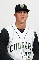 Dusty Odenbach of the Kane County Cougars at Elfstrom Stadium in Geneva, Illinois;  April 5, 2011. Photo By Chris Proctor/Four Seam Images.