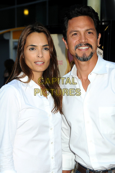 "TALISA SOTO & BENJAMIN BRATT .""Love Ranch"" Los Angeles Premiere held at Arclight Cinemas, Hollywood, California, USA, 23rd June 2010..arrivals half length white shirt married husband wife beard facial hair goatee .CAP/ADM/BP.©Byron Purvis/AdMedia/Capital Pictures."