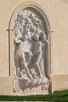 Statue at the winery. Chateau Petrus, Pomerol, Bordeaux, France