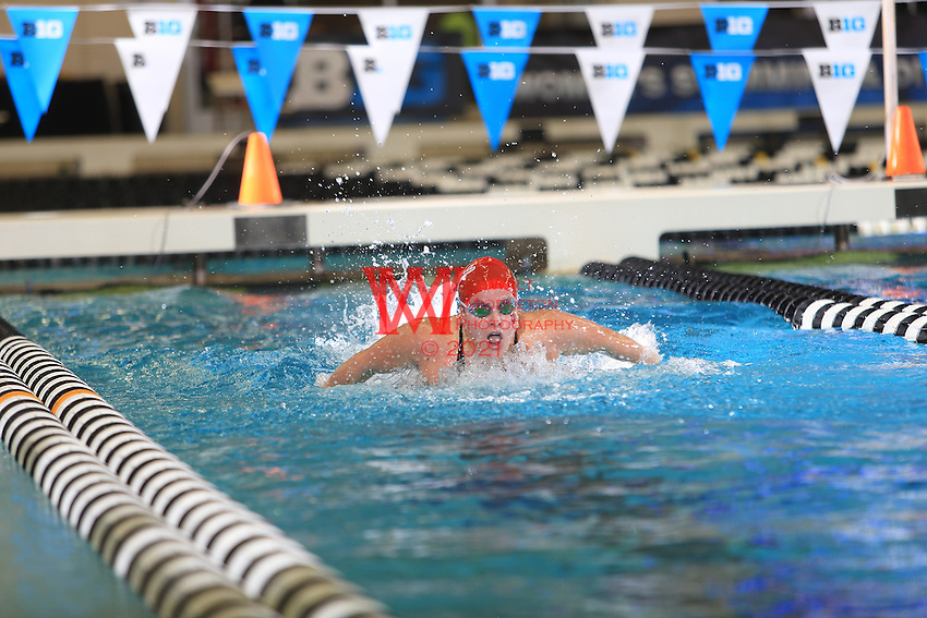The Indiana University women's swimming and diving team compete at the 2017 Women's Big Ten Championships at Purdue University. February 16, 2017.<br /> (Photo by Walt Middleton Photography 2017)