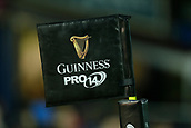 29th September 2017, RDS Arena, Dublin, Ireland; Guinness Pro14 Rugby, Leinster Rugby versus Edinburgh;  The Guinness Pro 14 corner flag