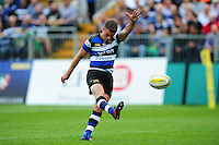 George Ford of Bath Rugby kicks for the posts. Aviva Premiership match, between Bath Rugby and Newcastle Falcons on September 10, 2016 at the Recreation Ground in Bath, England. Photo by: Patrick Khachfe / Onside Images
