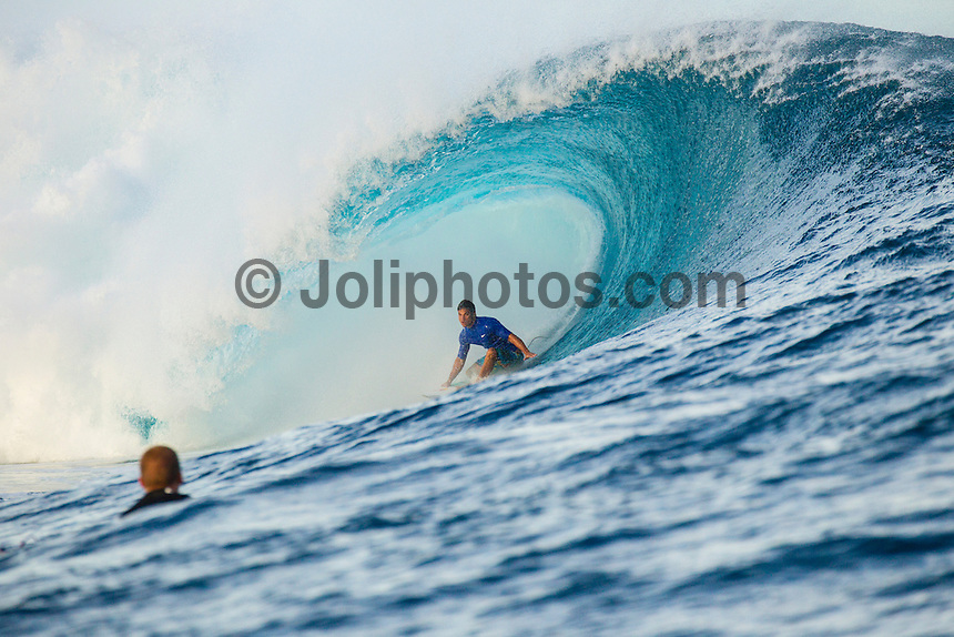 CLOUDBREAK, Tavarua/Fiji (Monday, June 4, 2012) Michel Bourez (PYF). - Free surfing at Cloudbreak. Warm up sessions during the Volcom Fiji Pro.  Photo: joliphotos.com