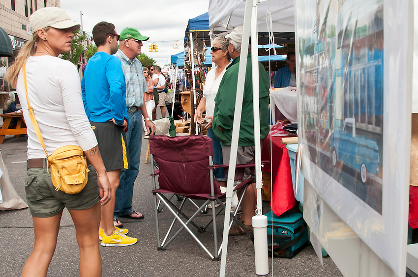 Scene from the Blueberry Festival in downtown Marquette, Michigan.