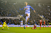 31st October 2017, Madejski Stadium, Reading, England; EFL Championship football, Reading versus Nottingham Forest; John Swift of Reading celebrates scoring the second goal for Reading