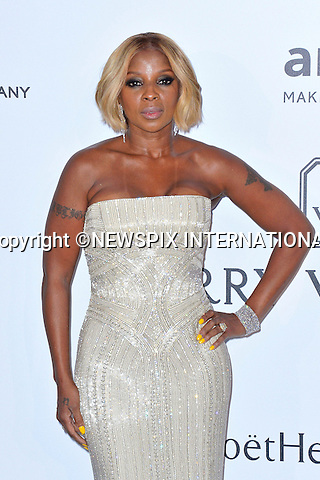 12.05.2015, Antibes; France: MARY J BLIGE<br /> attends the Cinema Against AIDS amfAR gala 2015 held at the Hotel du Cap, Eden Roc in Cap d'Antibes.<br /> MANDATORY PHOTO CREDIT: &copy;Thibault Daliphard/NEWSPIX INTERNATIONAL<br /> <br /> (Failure to credit will incur a surcharge of 100% of reproduction fees)<br /> <br /> **ALL FEES PAYABLE TO: &quot;NEWSPIX  INTERNATIONAL&quot;**<br /> <br /> Newspix International, 31 Chinnery Hill, Bishop's Stortford, ENGLAND CM23 3PS<br /> Tel:+441279 324672<br /> Fax: +441279656877<br /> Mobile:  07775681153<br /> e-mail: info@newspixinternational.co.uk