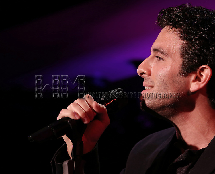 Jarrod Spector performing in a press preview at 54 Below on October 23, 2013 in New York City.