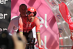 Tom Dumoulin (NED) Team Sunweb first rider to start Stage 1 of the 2019 Giro d'Italia, an individual time trial running 8km from Bologna to the Sanctuary of San Luca, Bologna, Italy. 11th May 2019.<br /> Picture: Eoin Clarke | Cyclefile<br /> <br /> All photos usage must carry mandatory copyright credit (© Cyclefile | Eoin Clarke)