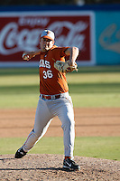 Randy Boone of the Texas Longhorns during a game against the Cal State Long Beach 49'ers at Blair Field on February 11, 2007 in Long Beach, California. (Larry Goren/Four Seam Images)