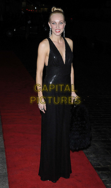 Camilla Dallerup.Daily Mail Inspirational Woman of The Year Awards at the Marriott Grosvenor Square Hotel, London, England..January 18th, 2012.full length dress black sleeveless maxi  .CAP/CAN.©Can Nguyen/Capital Pictures.