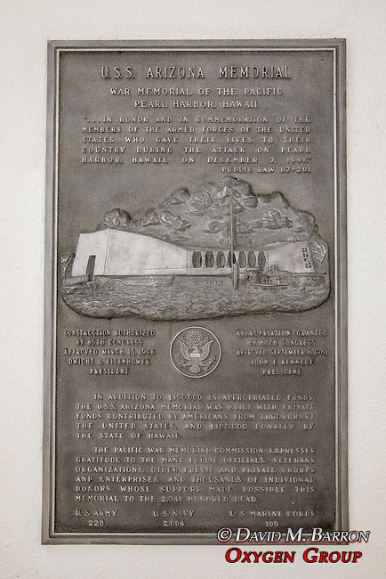 USS Arizona Memorial Dedication Plaque, Pearl Harbor