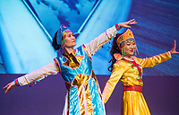 NWA Democrat-Gazette/BEN GOFF @NWABENGOFF<br /> Coco Liu (right) and Cathy Luo perform a Mongolian dance Saturday, Feb. 10, 2018, during the Chinese New Year Gala presented by the Chinese Association of Northwest Arkansas at Springdale Har-Ber High. The event celebrated the Year of the Dog with a dinner and a show featuring traditional and contemporary Chinese dance, music, fashion and more.