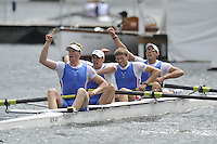 Henley, GREAT BRITAIN, Prince Albert Challenge Cup, Newcastle University, Bow,  Nathan O'REILLY, Mason DURANT,  Murray WILKOJC and Fred GILL, and cox, Carolyn JOHNSON, 2008 Henley Royal Regatta, on  Sunday, 06/07/2008,  Henley on Thames. ENGLAND. [Mandatory Credit:  Peter SPURRIER / Intersport Images] Rowing Courses, Henley Reach, Henley, ENGLAND . HRR