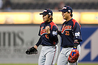 18 March 2009: #47 Toshiya Sugiuchi of Japan celebrates with #25 Shuichi Murata after winning the game against Cuba during the 2009 World Baseball Classic Pool 1 game 5 at Petco Park in San Diego, California, USA. Japan wins 5-0 over Cuba.