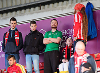 Lincoln City fans enjoy the pre-match atmosphere<br /> <br /> Photographer Chris Vaughan/CameraSport<br /> <br /> Emirates FA Cup First Round - Lincoln City v Northampton Town - Saturday 10th November 2018 - Sincil Bank - Lincoln<br />  <br /> World Copyright &copy; 2018 CameraSport. All rights reserved. 43 Linden Ave. Countesthorpe. Leicester. England. LE8 5PG - Tel: +44 (0) 116 277 4147 - admin@camerasport.com - www.camerasport.com