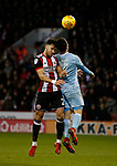 Bryan Oviedo of Sunderland challenged by George Baldock of Sheffield Utd during the Championship match at Bramall Lane Stadium, Sheffield. Picture date 26th December 2017. Picture credit should read: Simon Bellis/Sportimage