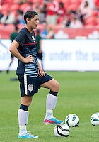 02 June 2013: U.S Women's National Soccer Team forward Abby Wambach #20 in action during the warm-up in an International Friendly soccer match between the U.S. Women's National Soccer Team and the Canadian Women's National Soccer Team at BMO Field in Toronto, Ontario.<br /> The U.S. Women's National Team Won 3-0.
