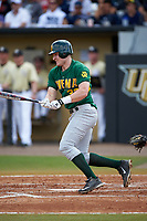 Siena Saints right fielder Fred Smart (32) at bat during a game against the UCF Knights on February 21, 2016 at Jay Bergman Field in Orlando, Florida.  UCF defeated Siena 11-2.  (Mike Janes/Four Seam Images)