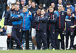 Kenny Miller can't bear to look during the sudden death penalty shoot-out