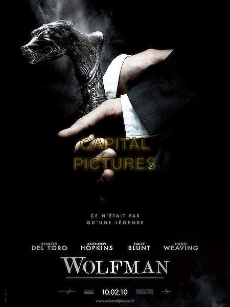 FRENCH POSTER ART.in The Wolfman (2010).*Filmstill - Editorial Use Only*.CAP/FB.Supplied by Capital Pictures.