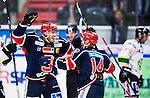 S&ouml;dert&auml;lje 2014-09-22 Ishockey Hockeyallsvenskan S&ouml;dert&auml;lje SK - IF Bj&ouml;rkl&ouml;ven :  <br /> S&ouml;dert&auml;ljes Jacob Dahlstr&ouml;m har kvitterat till 1-1 och jublar med lagkamrater Robert Carlsson <br /> (Foto: Kenta J&ouml;nsson) Nyckelord: Axa Sports Center Hockey Ishockey S&ouml;dert&auml;lje SK SSK Bj&ouml;rkl&ouml;ven L&ouml;ven IFB jubel gl&auml;dje lycka glad happy