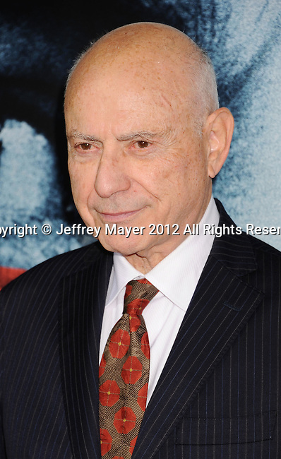 BEVERLY HILLS, CA - OCTOBER 04: Alan Arkin arrives at the 'Argo' - Los Angeles Premiere at AMPAS Samuel Goldwyn Theater on October 4, 2012 in Beverly Hills, California.