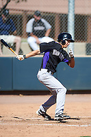 Colorado Rockies minor league outfielder Max White #37 during an instructional league intrasquad game at the Salt River Flats Complex on October 5, 2012 in Scottsdale, Arizona.  (Mike Janes/Four Seam Images)