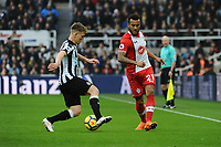 Matt Ritchie of Newcastle United battles with Nathan Redmond of Southampton during Newcastle United vs Southampton, Premier League Football at St. James' Park on 10th March 2018