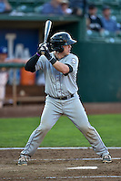 Brian Serven (20) of the Grand Junction Rockies at bat against the Ogden Raptors in Pioneer League action at Lindquist Field on August 24, 2016 in Ogden, Utah. The Raptors defeated the Rockies 11-10. (Stephen Smith/Four Seam Images)