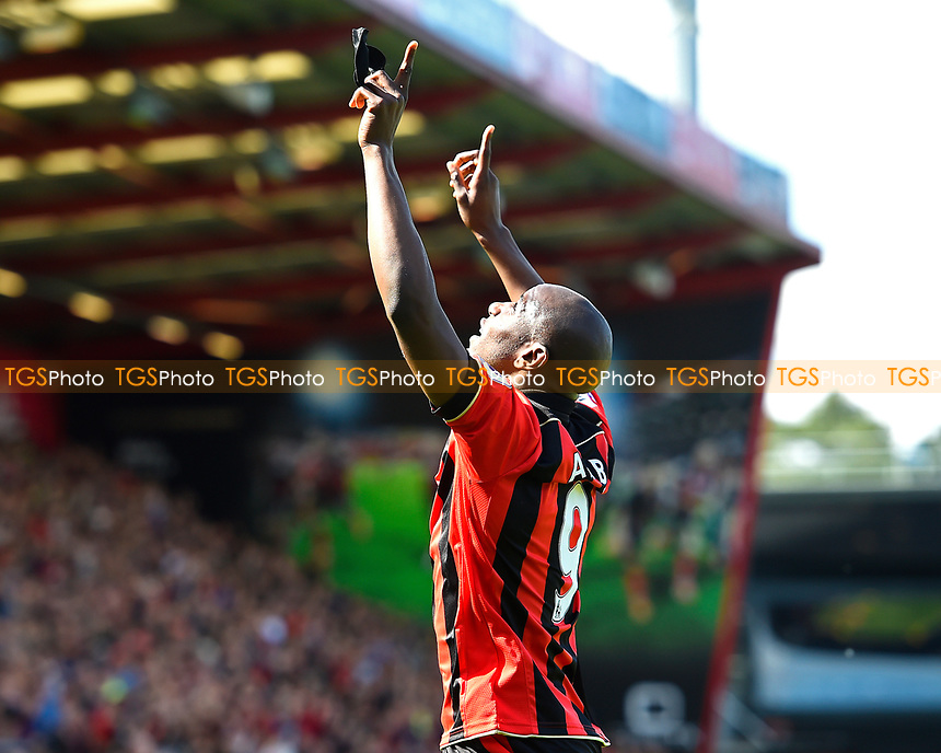 Benik Afobe of AFC Bournemouth celebrates scoring the second goal during AFC Bournemouth vs Middlesbrough, Premier League Football at the Vitality Stadium on 22nd April 2017