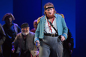 """London, UK. 7 May 2015. Alexander Robin Baker as Samuel. Dress rehearsal of the Gilbert and Sullivan comic opera """"The Pirates of Penzance"""" at the London Coliseum. Award winning director Mike Leigh makes his operatic directing debut with The Pirates of Penzance. The ENO production opens at the London Coliseum on 9 May 2015 and runs for 14 productions until 27 June 2015. The English National Opera production is conducted by David Parry. Cast: Andrew Shore as Major-General Stanley, Joshua Bloom as The Pirate King, Alexander Robin Baker as Samuel, Robert Murray as Frederic, the Pirate Apprentice, Jonathan Lemalu as Sergeant of the Police, Claudia Boyle as Mabel, Soraya Mafi as Edith, Angharad Lyddon as Kate, Lydia Marchione as Isabel and Rebecca de Pont Davies as Ruth. Photo: Bettina Strenske"""