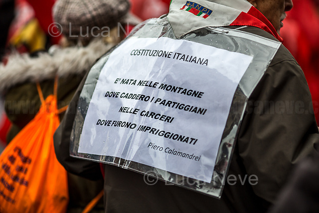 "Rome, 24/02/2018. Today, more than 20,000 people marched peacefully in Central Rome – and in several other cities across Italy – to protest and fight against a revival of neo-fascist sentiment and against racism and xenofobia. The national demonstration called ""Mai Piú Fascismi Mai Piú Razzismi"" was organised by A.N.P.I. (Associazione Nazionale Partigiani d'Italia - National Association of Italian Partisans) and supported by Center-left political parties, trade unions, organizations, activist and social movements.    <br /> <br /> For more information please click here: http://bit.ly/2Civ61q <br /> <br /> For a video of the event by Radio Radicale please click here: http://bit.ly/2sOImHf"