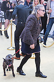 London, UK. 29 June 2016. Star Wars actress Carrie Fisher with her dog Gary. World premiere of Absolutely Fabulous - the Movie in London's Leicester Square.