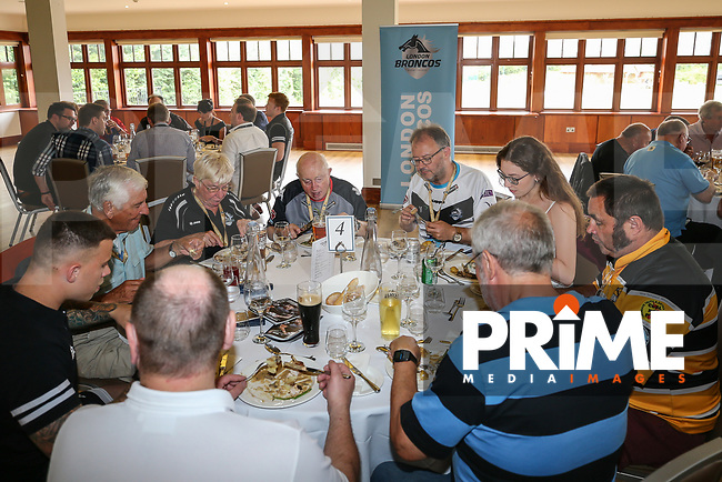 Pre Match hospitality ahead of the Kingstone Press Championship match between London Broncos and Featherstone Rovers at Castle Bar , West Ealing , England  on 25 June 2017. Photo by David Horn.