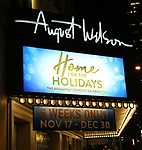 "Theatre Marquee unveiling for  ""Home For The Holidays"" starring Candice Glover, winner of ""American Idol"" Season 12; Josh Kaufman, winner of ""The Voice"" Season 6; and Bianca Ryan, winner: ""America's Got Talent"" Season 1, at August Wilson Theatre Theatre on November 3, 2017 in New York City."