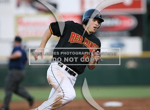 2007:  Trent Oeltjen of the Rochester Red Wings in a game at Frontier Field during an International League baseball game.  Photo copyright Mike Janes Photography 2007.