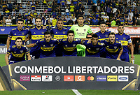 "BUENOS AIRES-ARGENTINA, 10-03-2020: Jugadores de Boca Juniors, posan para una foto, durante partido de la fase de grupos, grupo H, fecha 2, entre Boca Juniors (ARG) y Deportivo Independiente Medellin (COL) por la Copa Conmebol Libertadores 2020, en el estadio Alberto Jose Armando ""La Bombonera"", de la ciudad Ciudad Autonoma de Buenos Aires. / Players of Boca Juniors, pose for a photo, during a match of the groups phase, group H, 2nd date, beween Boca Juniors (ARG) of Deportivo Independiente Medellin (COL) for the Conmebol Libertadores Cup 2020, at the Alberto Jose Armando ""La Bombonera"", in Ciudad Autonoma de Buenos Aires. / Photo: VizzorImage / Javier Garcia Martino / Photogamma / Cont."