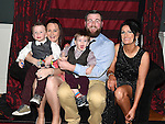 Betty Arnold celebrating her 50th birthday in the Westcourt hotel with son Linus, daughter inlaw Caroline and grandchildren Finn and Oisín. Photo:Colin Bell/pressphotos.ie