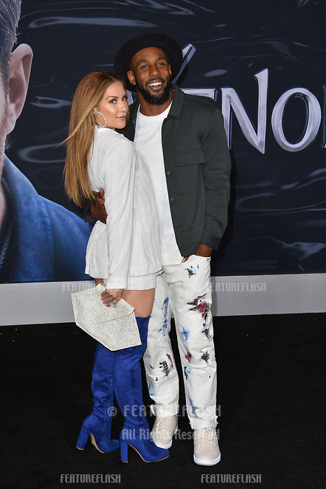 LOS ANGELES, CA. October 01, 2018: Allison Holker &amp; Stephen Boss at the world premiere for &quot;Venom&quot; at the Regency Village Theatre.<br /> Picture: Paul Smith/Featureflash
