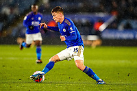 9th March 2020; King Power Stadium, Leicester, Midlands, England; English Premier League Football, Leicester City versus Aston Villa; Harvey Barnes of Leicester City cuts inside the defender
