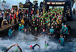 OCEANSIDE, CA - APRIL 7:  General view of age groupers entering the swim during the IRONMAN 70.3 Oceanside Triathlon on April 7, 2018 in Oceanside, California. (Photo by Donald Miralle for IRONMAN)