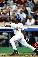 Adrian Beltre of the Los Angeles Dodgers during a game at Dodger Stadium circa 1999 in Los Angeles, California. (Larry Goren/Four Seam Images)